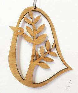 Tree Bird woodcut (cherry)