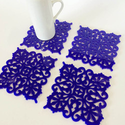 Perspex coasters (Blue)