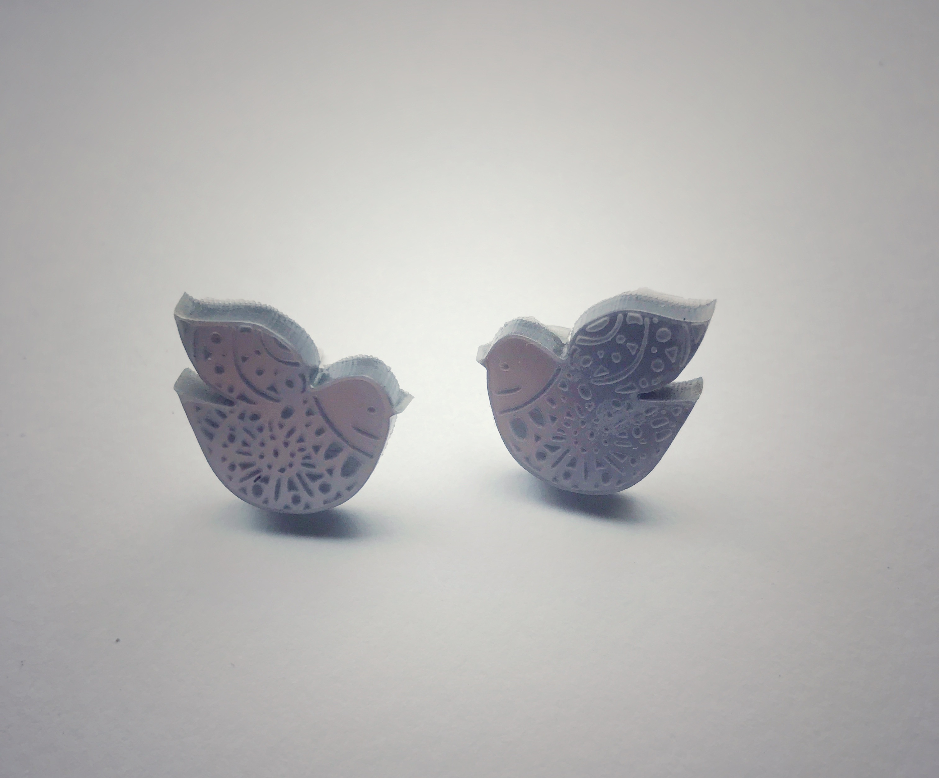 Nordic Bird stud earings