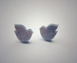 Nordic Bird stud earings