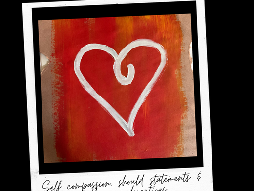 Self Compassion & Should Statements...ways to challenge them + some art therapy activities to try