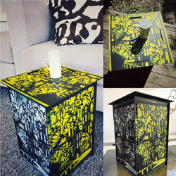 Stencil Side table