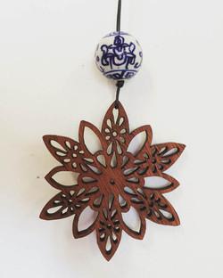 Flower Mandala pendant (jarrah)