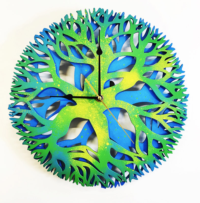 Tree mandala clock