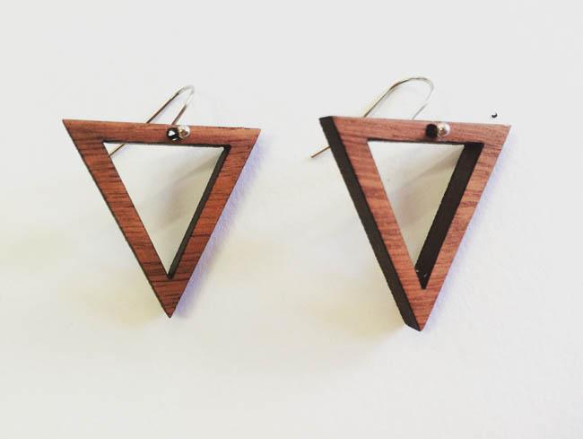Triangle earings (jarrah)