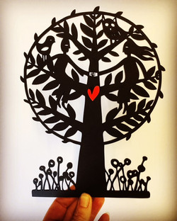 Together woodcut