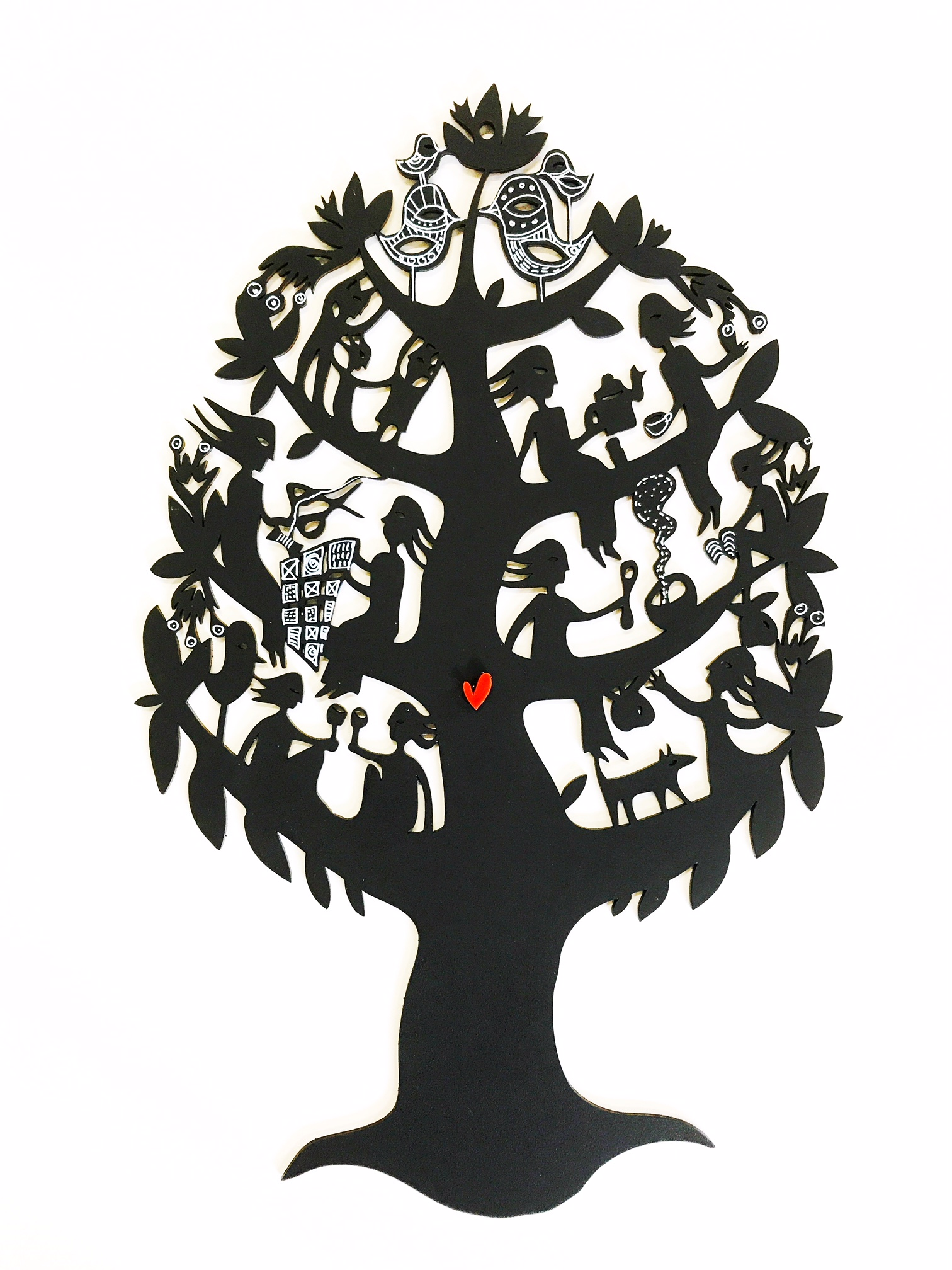 Friendship Tree woodcut