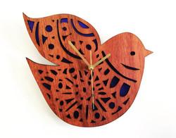 Nordic Bird Clock (jarrah and perspex)