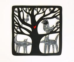 Midnight Animals woodcut