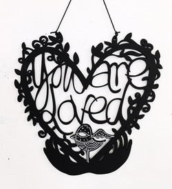 You Are Loved woodcut