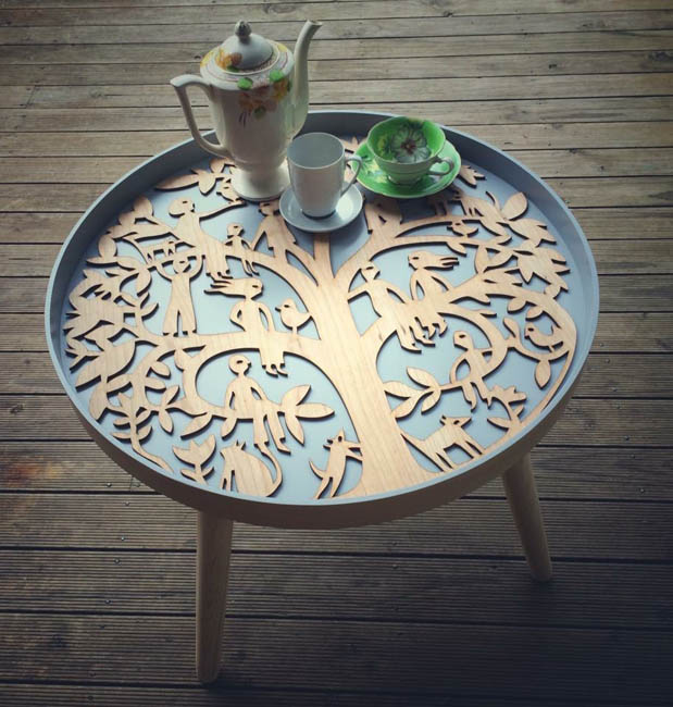Mandala Family Tree Coffee Table