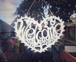 Welcome woodcut