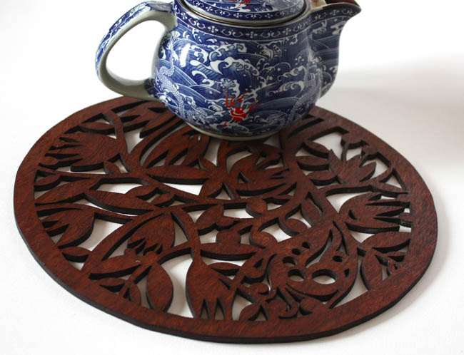 Wildflower trivet (jarrah)
