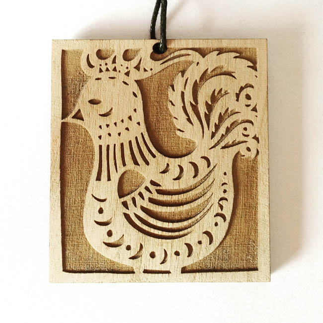 Rooster 2 pendant