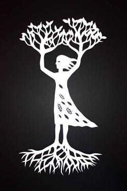 Tree Woman (white)