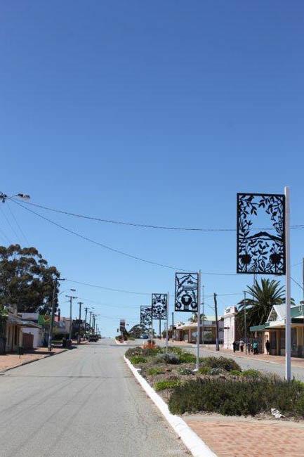 Gnowangerup Metal Banner Streetscape