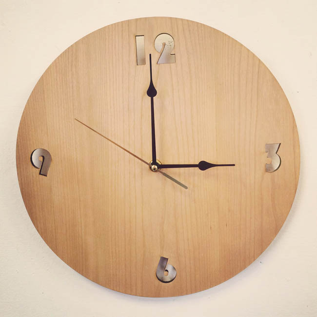 Cherry wood Clock