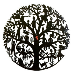 Mandala Family Tree (with leaf)