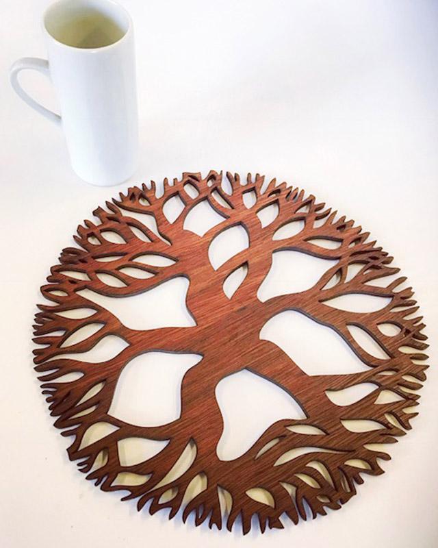 Tree Mandala jarrah trivet