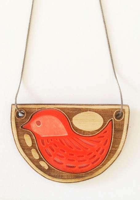 Bird with Riverstones pendant
