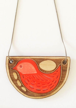 Bird with Riverstones pendant