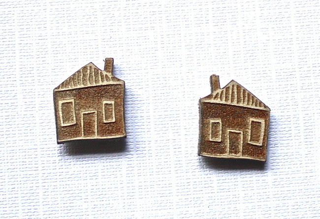 House Stud Earings