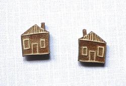 House Stud Earings