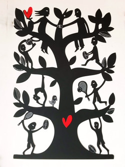 Family Tree Woodcut