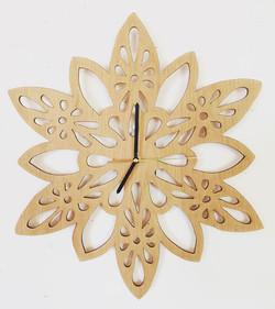 Mandala Clock- cherry wood
