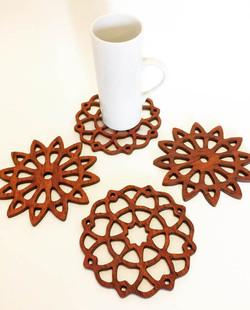 Mandala jarrah coasters