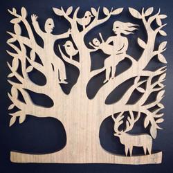 Arrival woodcut (cherry wood)