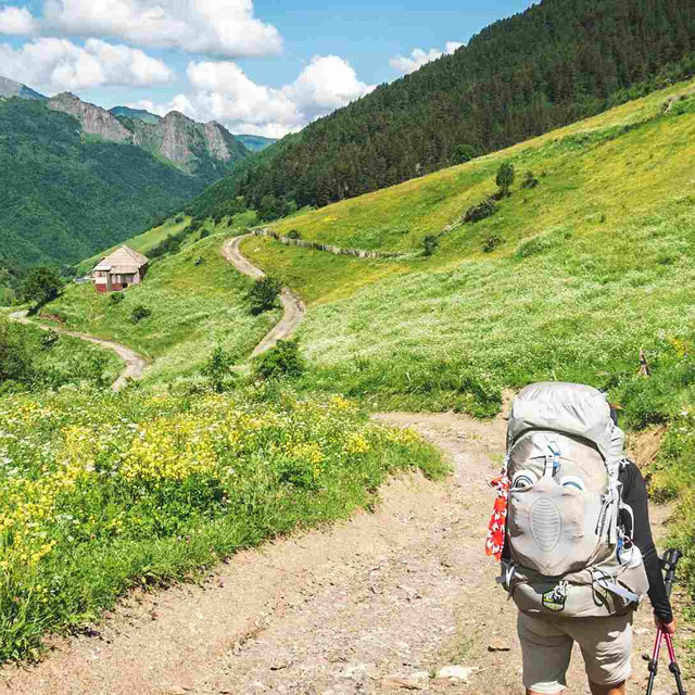 svaneti georgia self guided walking camp