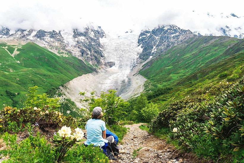 adishi glacier svaneti hiking tour mesti