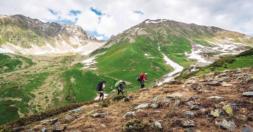 transcaucasian trail utviri pass svaneti chuberi camp caucasus hiking georgia