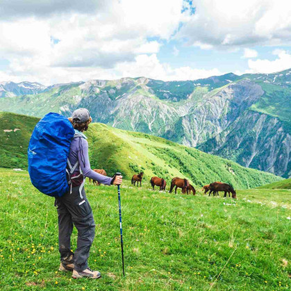 mestia ushguli trek hiking georgia camp