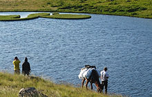 camp caucasus black rocks lake tour