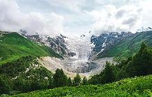 adishi glacier svaneti hiking mestia ush
