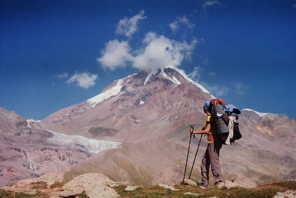 Kazbegi, Kazbek, Georgia, Caucasus, hiking, Kazbegi summit, mountaineering