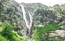shdugra waterfall mazeri svaneti georgia