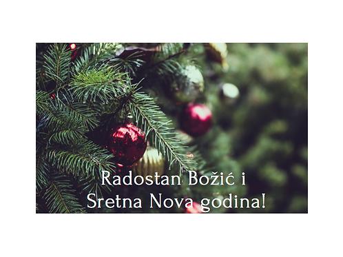 "Čestitka ""Radostan Božić i sretna Nova godina"""