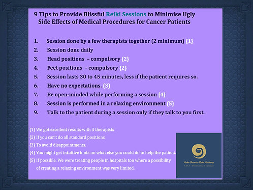 Poster - 9 Tips to Provide Blissful Reiki Sessions...