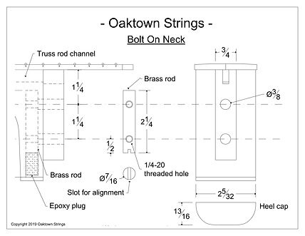 Bolt on neck design for acoustic guitar