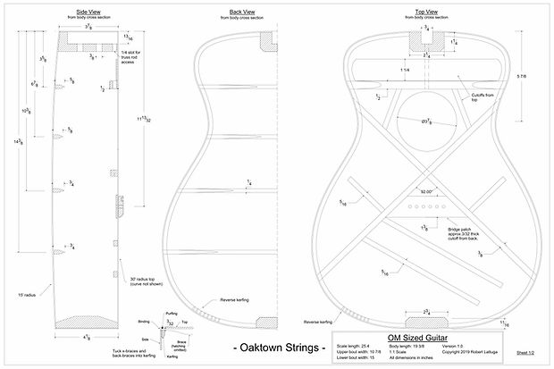 free acoustic guitar plans, acoustic guitar drawing, acoustic guitar build, engineering drawing, mechanical drawing, free