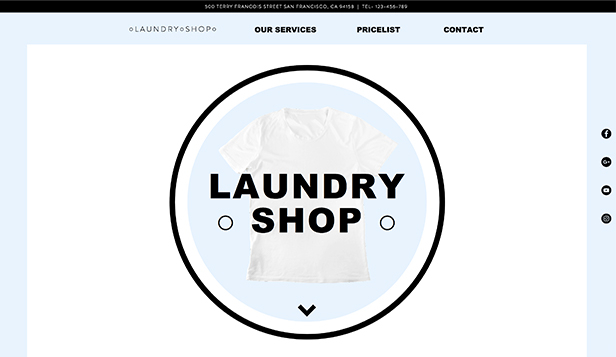 Services & Maintenance website templates – Laundry Shop