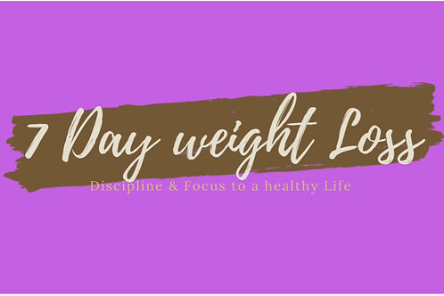 7 Day weight Loss