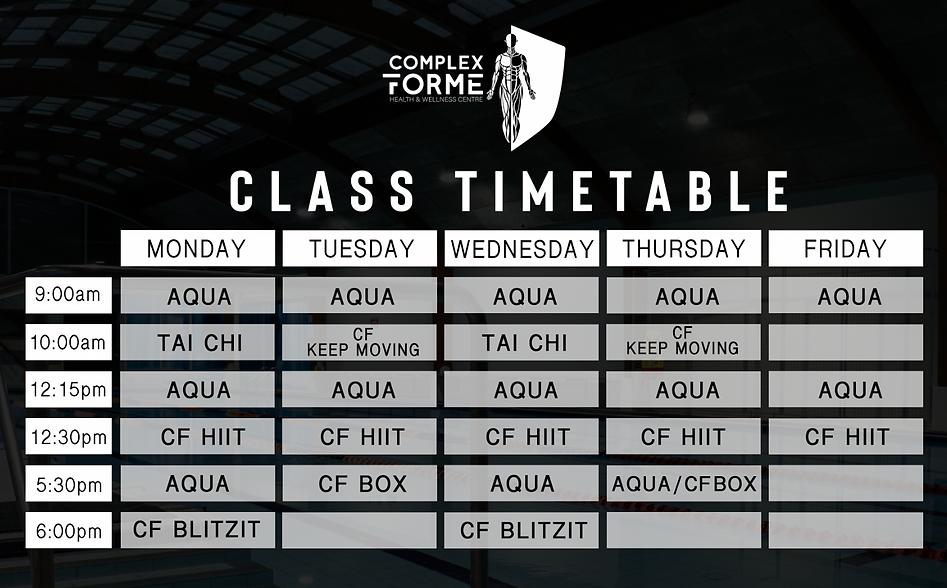 CF Timetable