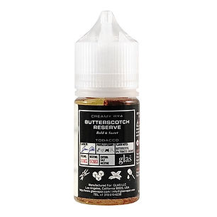glas butterscotch reserve nic salt e-liquid