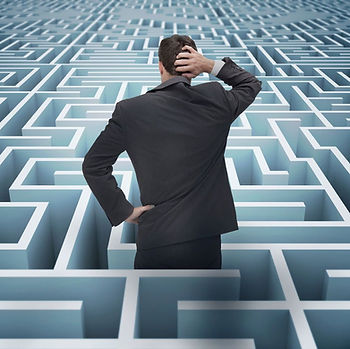 man lost in a maze