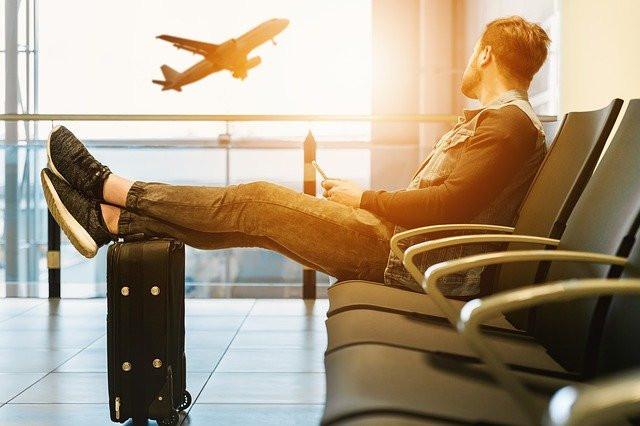 man waiting at terminal