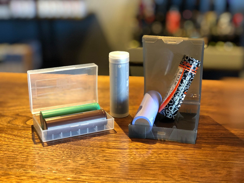 different vape battery cases